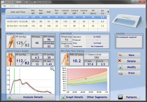 Ecran de résultat du logiciel Complior Analyse
